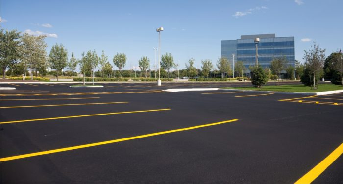 Perfectly maintained parking lot