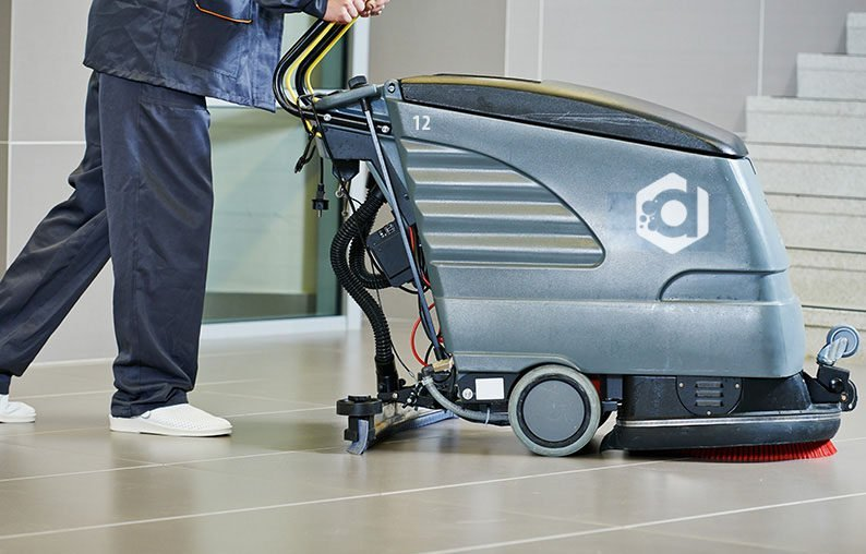 DSC Solutions floor scrubber machine